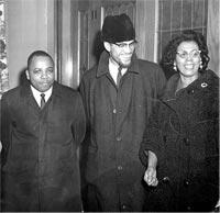 Franklin Florence, Malcolm X and Constance Mitchell