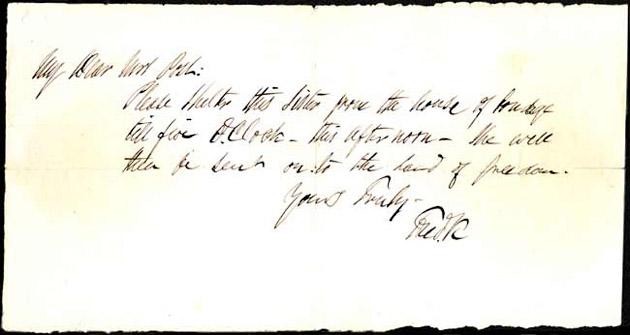 Douglass letter