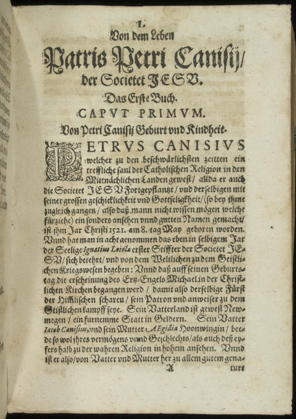 picture of first page of the work, recto of A1, page 1