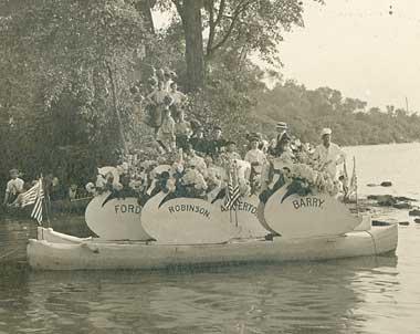 Swan boat at Genesee Valley Park