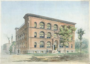 Rendering of the Bevier Building, Rochester, NY