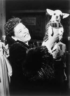 Billie Holiday and Peppi, circa 1957, Rochester, NY. Copyright 2002, Paul Hoeffler. All rights reserved.