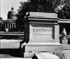 Eastman Quadrangle, 1952. Photographed by Ansel Adams.  Copyright  2002, University of Rochester. All rights reserved.