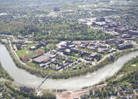 Aerial view of the River Campus
