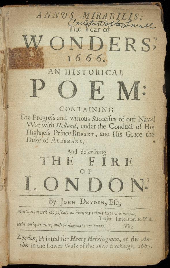 Annus Mirabilis Poem Analysis Essays - image 4