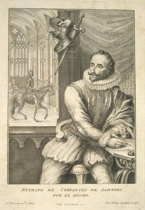 portrait of Cervantes