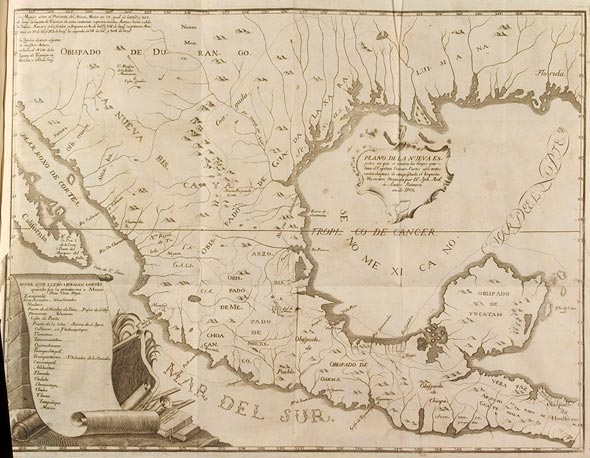 Map of New Spain, Plano de la Nueva España