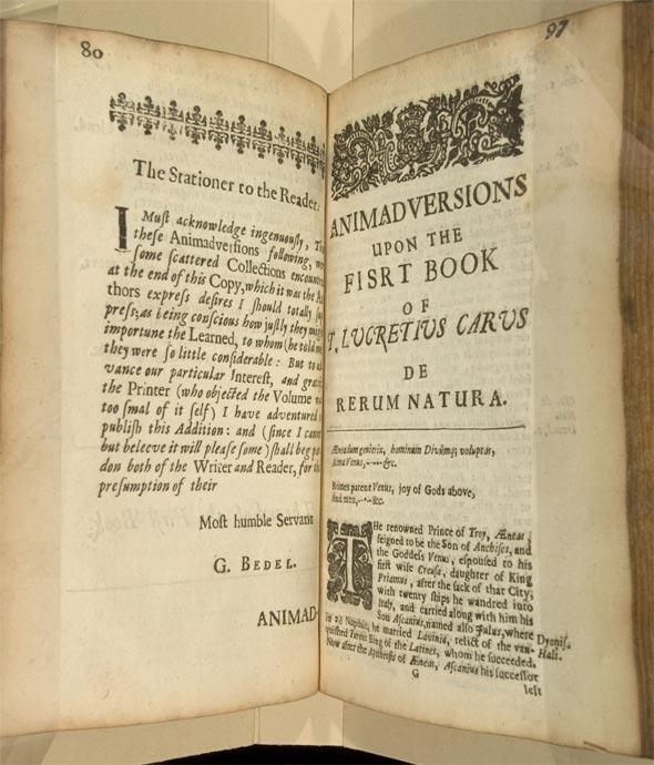 Stationer to the reader