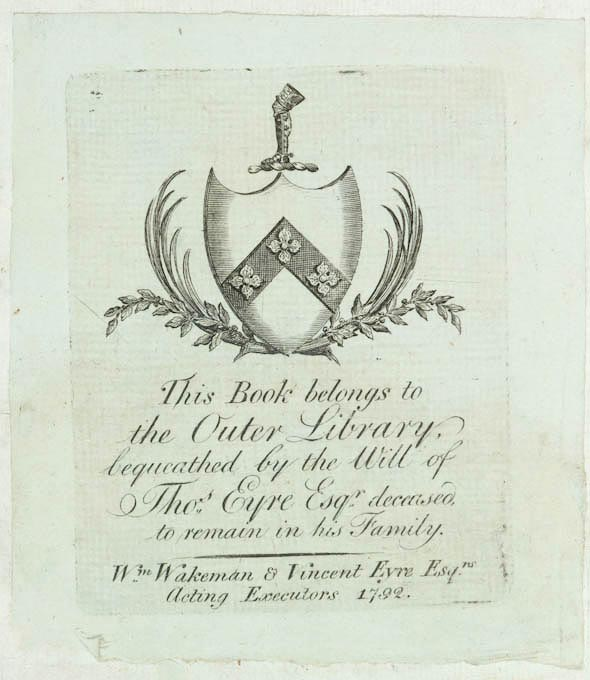 picture of book plate
