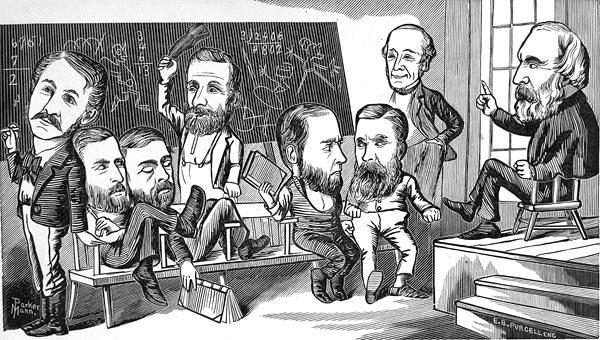 1877 caricature of UR faculty