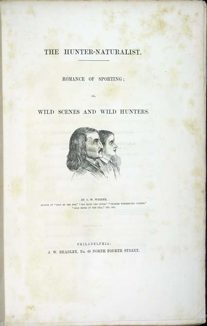 Title page of Webber's the Hunter-Naturalist