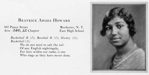 Beatrice Amaza Howard Croceus entry