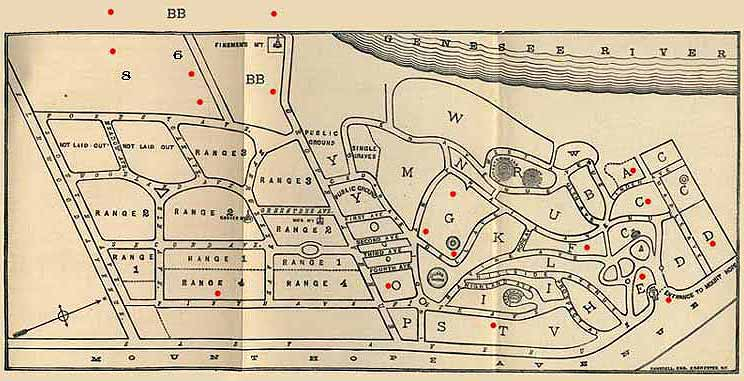 Mount Hope Cemetery Map