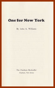 scanned title page for one for new york