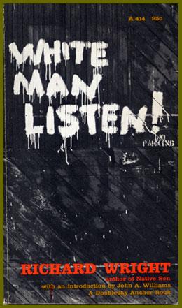 scanned book jacket for white man listen