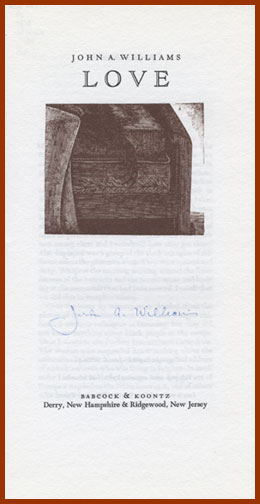 scanned title page, signed, for LOVE