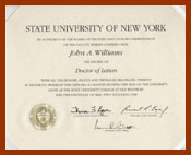 scanned diploma