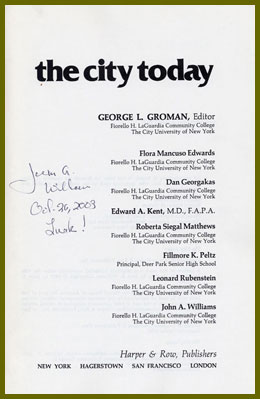 scanned table of contents, signed
